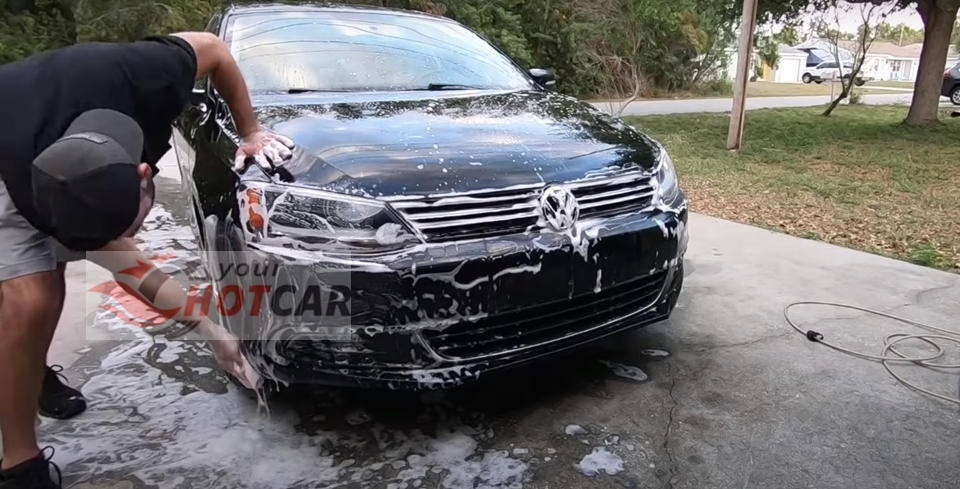 Thoroughly wash your car with soap
